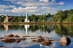 Mahone Bay Townhouse in Town near Art Galleries, Dining, & Shops Vacation Rental in Mahone Bay from Landscape Photos, Landscape Photography, Atlantic Canada, Newfoundland And Labrador, Prince Edward Island, Cool Landscapes, Adventure Is Out There, Nova Scotia, Beautiful Places