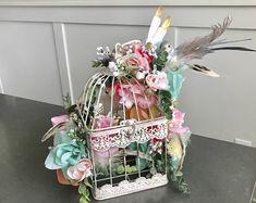 Pow Wow, Wedding Centerpieces Mason Jars, Wedding Decorations, Wedding Ideas, Bird Cage Centerpiece, Decorated Gift Bags, Shabby Chic Gifts, Boho Baby Shower, Bridal Shower