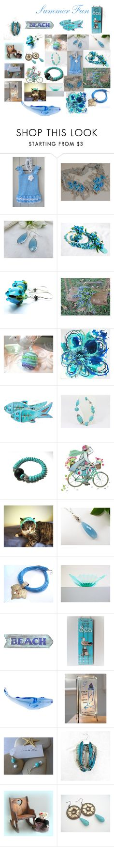 """""""Summer Fun"""" by therusticpelican ❤ liked on Polyvore featuring Cadeau, Volcanica, Baccarat, Lampara, modern, contemporary, rustic and vintage"""