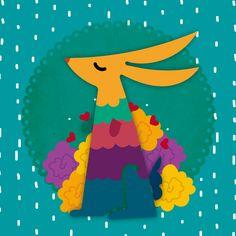 Conejito Motivos mexicanos Ilustración Diseño gráfico Luzka Casa Creativa