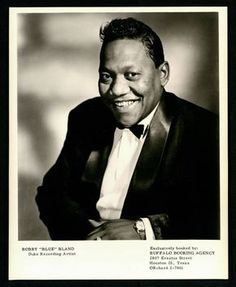 "Bobby ""Blue"" Bland, official picture of Duke Records, Houston, Texas"