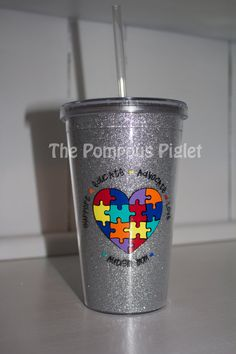 Autism Awareness Tumbler by ThePompousPiglet on Etsy, $15.00 --- I want this!