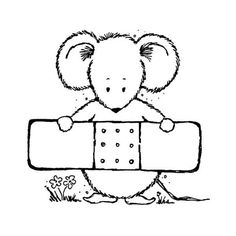 Feel better soon block letter coloring pages ~ 9652 - Get Well Fido Rubber Stamp - Sku: E570 | Clip art ...