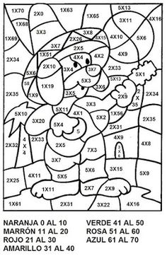 Guided colouring page Math Games, Learning Activities, Kids Learning, Math Coloring Worksheets, School Worksheets, Printable Worksheets, School Lessons, Math Lessons, Math Multiplication