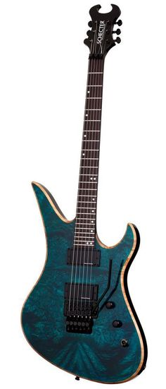 Here's an axe from the Schecter Guitars Custom Shop that features Blackouts and a Floyd Rose.