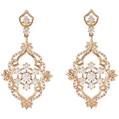 Sara Weinstock Women's French Lace Earrings ($15,200) ❤ liked on Polyvore featuring jewelry, earrings, accessories, colorless, round stud earrings, round earrings, floral earrings, anchor jewelry and lace earrings