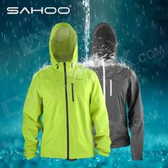 SAHOO Outdoor Sports Cycling Windproof Rainproof Long Sleeves Coat - Fluorescent Green (Size XL) From 59,- for Euro 37,95