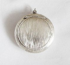1920s French Powder Compact Art Nouveau Pendant by GrandpasMarket
