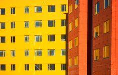 Orange & Yellow Building Sides