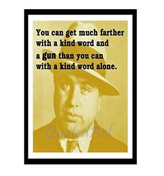 AL CAPONE Quoted Art print by QuotedArt on Etsy, $8.00