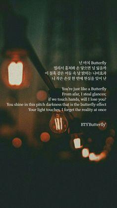 - Schmetterling - New Ideas Korean Song Lyrics, Bts Song Lyrics, Bts Lyrics Quotes, Bts Qoutes, Butterfly Quotes, Butterfly Bts Lyrics, Korea Quotes, Pop Lyrics, Bts Texts