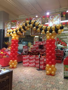 Chinese New Year #Pagoda. #arch #balloons #corporateevents #ballooncorporateevents #events #companyparties #balloonarches #sculptures #themedevents