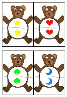 cheznounoucricri - Page 2 Bears Preschool, Preschool Math, Kindergarten Math, Math Games, Preschool Activities, Play Based Learning, Kids Learning, Shape Games