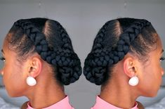 Read on to see this easy braided protective style...