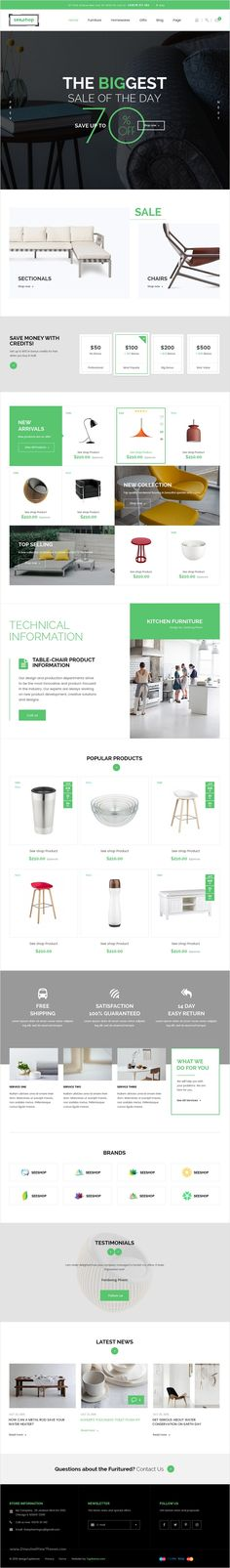 See.shop is a beautifully design premium #PSD template for #decor #shop eCommerce #website with 12 unique homepage layouts and 31 organized PSD pages download now➩ https://themeforest.net/item/seeshop-psd-template/18331832?ref=Datasata