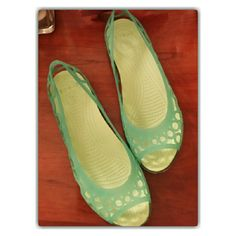 WEEKEND SALE!!! Croc Jelly Flats FLASHBACK'90's!!! Size 7 ~ Sale Ends Thursday 10pm crocs Shoes Flats & Loafers