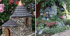 9 inspirací na miniaturní domečky z kamení Dream Garden, Bird Houses, Gazebo, Outdoor Structures, Image, Album, Art, Art Background, Kiosk