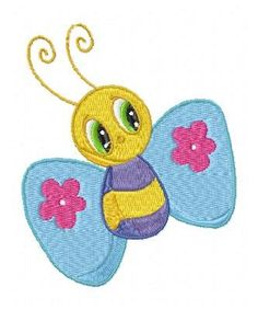 Butterfly and Bugs Machine Embroidery by embroiderydesignsavi, $8.99