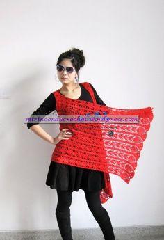 Díganme si no esta genial…una prenda …distintas formas de usarla…..!!!!!! « Mi Rincon de Crochet
