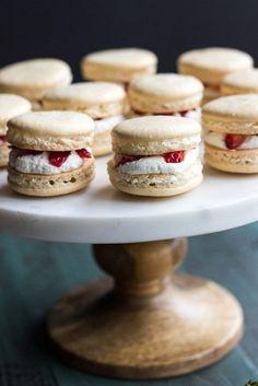 Strawberry Shortcake Macarons | The Beach House Kitchen