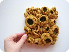 Modern Fiber Art Crochet Soft Sculpture - Coral Reef Wall Art. $57.00, via Etsy.  Rachel Hunnicutt