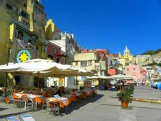 Restaurant in Corricella on the island of Procida.