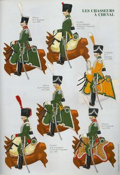 .French officers Chasseur a cheval