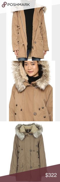 Free People Whistler Parka NWT! Beautiful heavy winter jacket.  Toffee color, faux fur rimmed hood and zip and button closure.  Roomy pockets and timeless style! Free People Jackets & Coats