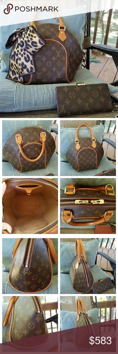 *FREE WALLET* Louis Vuitton Ellipse pm Authentic-SPOO51.Beautiful Condition for a vintage.tons of life left! Hardware Looks New! Zero Tarnish! Nice even honey patina.No Rips/tares anywhere.Pics show true condition.dark spot on trim patina on bottom.not noticed unless inspecting upside dwn.interior has a few marks. FREE WALLET--Authentc! has some damage & will need to b repaired-plz c extra post for more info.scarf not included.will come in a non-LV Dustbag.TRADE VAL $800 minimum.-NO…