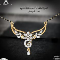 Wear a Heavy and Elaborate #Diamond #Mangalsutra.  #womenpower #womansday exquisite #woman #trends #shopping #perfect #embrace #embracelove #womensday
