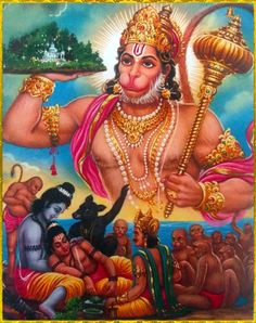 Hanuman with Sanjivini for Laxman and Ram is crying for laxman Hanuman Jayanthi, Hanuman Pics, Hanuman Images, Lord Krishna Images, Durga, Lord Ganesha Paintings, Lord Shiva Painting, Ganesh Idol, Ganesha Art