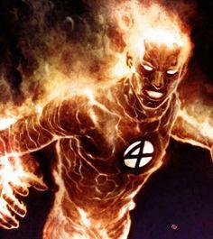 The Human Torch - Not an Avenger but still pretty cool.