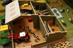 Farm storage and cattle stalls