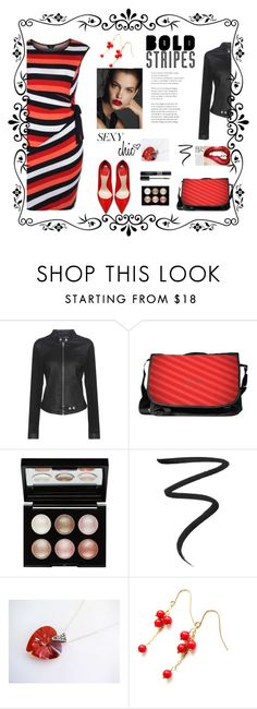 """Bold Stripes"" by belladonnasjoy ❤ liked on Polyvore featuring Calvin Klein Jeans, Witchery, Eyeko, Christian Dior and BoldStripes"