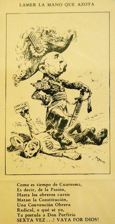 Caricatura de Porfirio Diaz