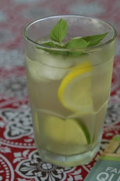 Here's one of our favorite ICE COLD summertime drinks.    ICED GREEN TEA with CITRUS    2 cups heated water  2 green tea, tea bags  1 orange  1 lemon  1 lime  *sprig of mint and a pineapple chunk if ya have one!
