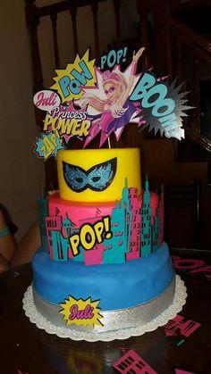 Torta Barby super heroina