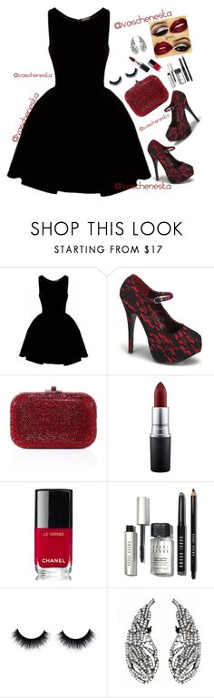 """""""Untitled #845"""" by loo0oove-16 ❤ liked on Polyvore featuring Alaïa, Bordello, Judith Leiber, MAC Cosmetics, Chanel and Bobbi Brown Cosmetics"""