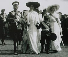 """imperial-russia: """"""""Imperial couple with their children during the celebrations of the battle of Borodino, 1912 """" """""""