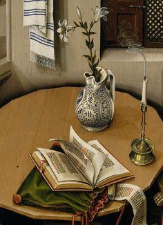 Los 16 lados de la mesa pueden aludir a los 16 profetas hebreos principales; la mesa usualmente es considerada como un altar.