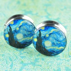 Starry Night Stainless Steel Plugs *Discontinued*