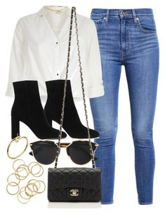 """#14763"" by vany-alvarado ❤ liked on Polyvore featuring Levi's, River Island, Yves Saint Laurent, Christian Dior and Chanel"