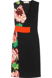 Stella Mccartney Agnes Floral-print Stretch-crepe Wrap-effect Dress In Black-multi Wrap Around Dress, Wrap Dress, Stella Mccartney, Look Formal, Calf Length Dress, Discount Designer Clothes, Floral Midi Dress, Dress Making, Dress Outfits