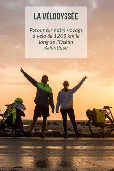 Un voyage assez facile à vélo de 1200 km, ça vous tente ?  C'est tout à fait possible de voyager simplement en suivant la Vélodyssée, un itinéraire cyclable qui va de Roscoff jusqu'à Hendaye, le long de la côte Atlantique.  Nous l'avons parcouru en totalité, voici l'heure du bilan ! Road Trip France, Circuit Velo, Rando Velo, Bike Friday, Rio, Newcastle, Hiking, Europe, Tours