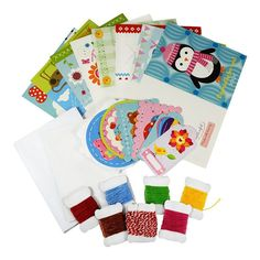 My Studio Girl Make-Your-Own Stitchable Cards, Multicolor