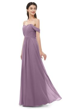 c4ace03e4d4 ColsBM Sylvia Mauve Bridesmaid Dresses Mature Floor Length Sweetheart  Ruching A-line Zip up Dusty