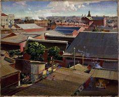 Harald Hansen Gallis Vike Perth roofs Aboriginal Art, Australian Artists, Perth, Outdoor Decor, Artwork, Home Decor, Work Of Art, Decoration Home, Auguste Rodin Artwork