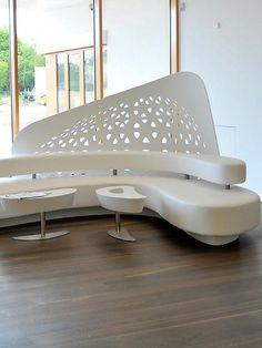 @HI-MACS Natural Acrylic Stone ® at Kaffee Partner office #design