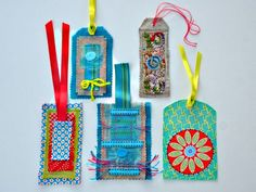 into craft: Textile tags - things to do with scraps