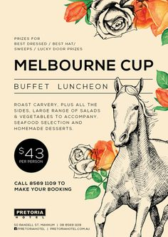 Lunch Invitation, Invitations, Melb Cup, Melbourne Cup Fashion, Australian Vintage, Flyer Design Inspiration, Event Flyers, Derby Party, Cup Design